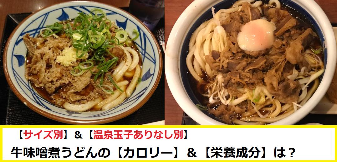 牛味噌煮うどんの【カロリー】&【栄養成分】は?