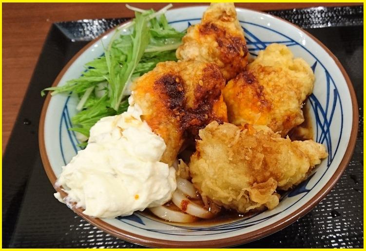 赤タル鶏天ぶっかけうどんの【カロリー/糖質/栄養成分】・【販売期間】・【具材の産地】